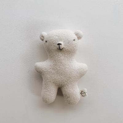 Small Wool Bear Soft Toys Oustitine White