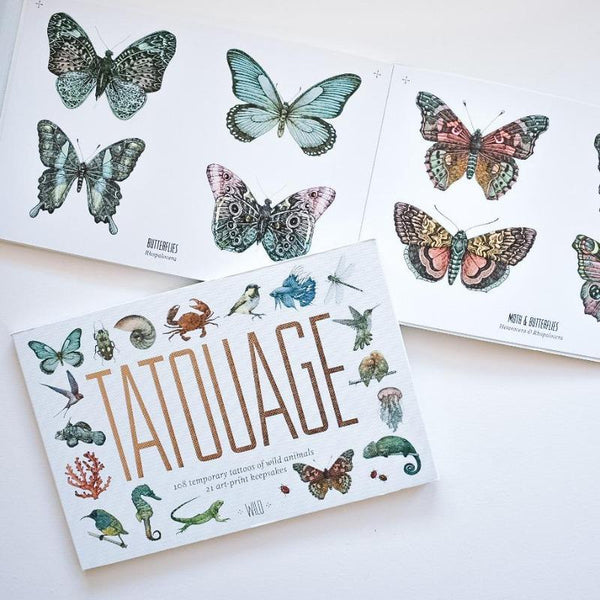 Tatouage: Wild Tattoo and Nature Booklet Books The Wonder Cabinet