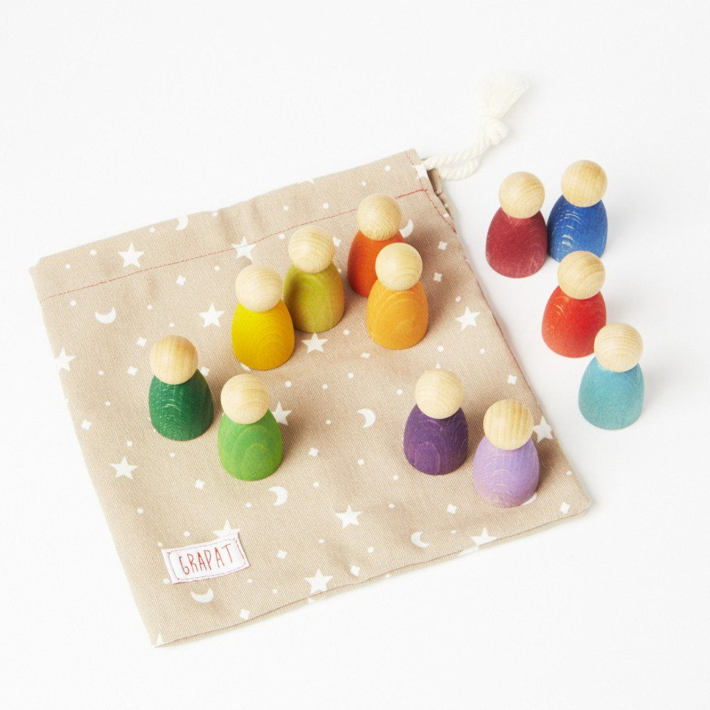 Wood Coloured Nins Wooden Toys Grapat