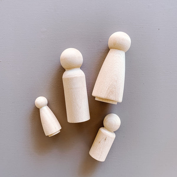 Wooden Peg people The Wonder Cabinet