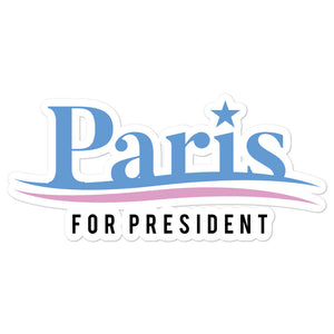 Paris For President sticker