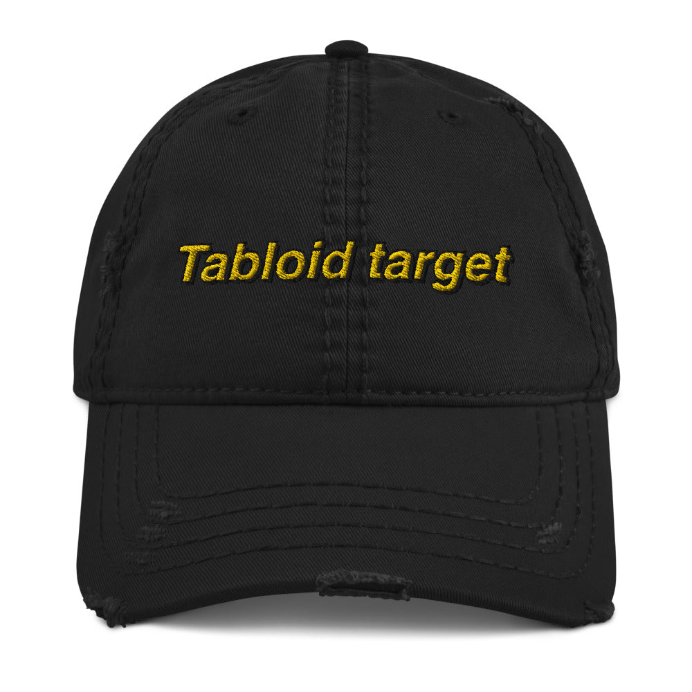 Tabloid Target Distressed Dad Hat