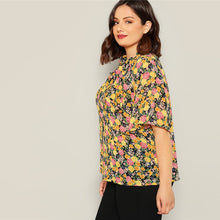Load image into Gallery viewer, Multicolored Knot Neck Blouse