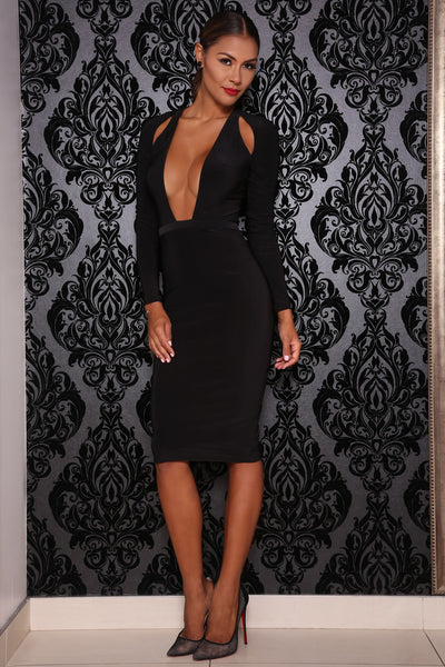 Desire dress (black) - Kourvosieur