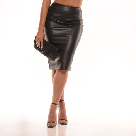 Riley vegan leather skirt (2 colors) - Kourvosieur