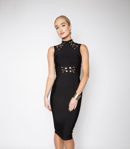 Porsha bandage dress (black) - Kourvosieur