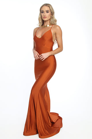 Asyah - Mermaids Are Real gown (copper) - Kourvosieur  - 1
