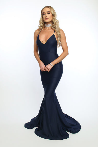 Asyah - Mermaids Are Real gown (navy) - Kourvosieur  - 1