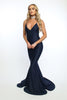 Asyah - Mermaids Are Real gown (navy) - Kourvosieur