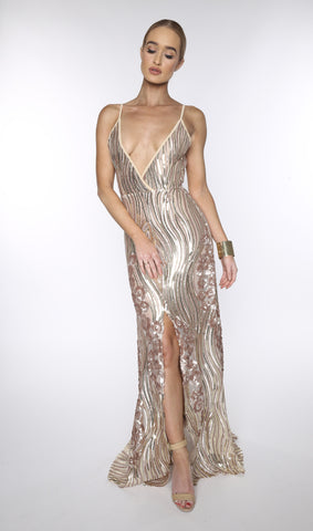 Asyah Vanna sequined gown
