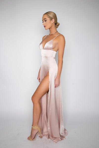 Joseline Silk gown (blush)