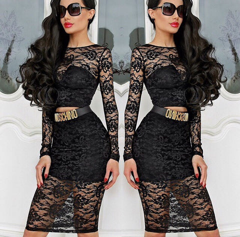 Portia & Scarlett Raquel lace 2 piece dress - Kourvosieur