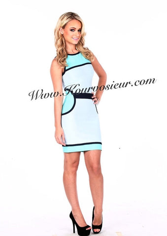 Vivian colorblock bandage dress - Kourvosieur
