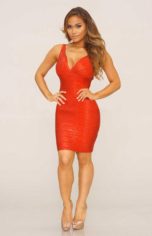 Elena bandage dress (Red) - Kourvosieur