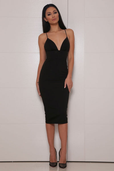 Liz midi dress (black) - Kourvosieur