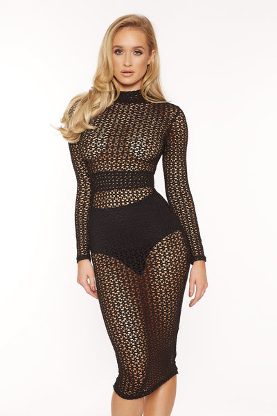 Jia mesh midi dress - Kourvosieur