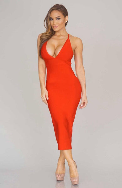 Kelsey bandage dress (red) - Kourvosieur