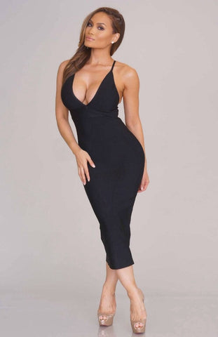 Kelsey bandage dress (black) - Kourvosieur