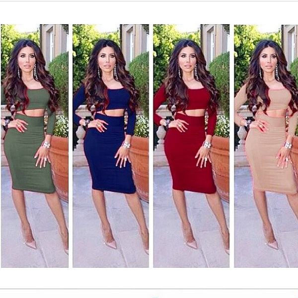 Portia & Scarlett Jessica 2 piece dress 4 colors - Kourvosieur