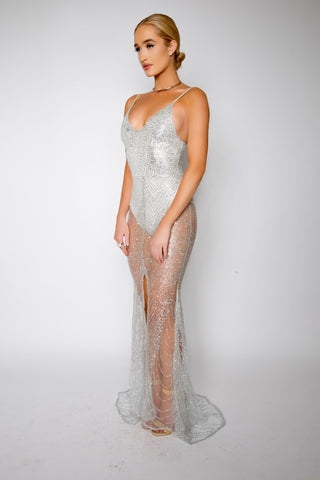 Diamonds glitter gown (silver) - Kourvosieur