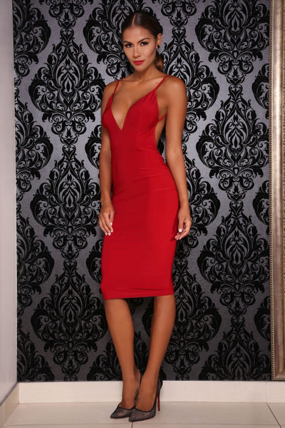 Kylie dress (red) - Kourvosieur
