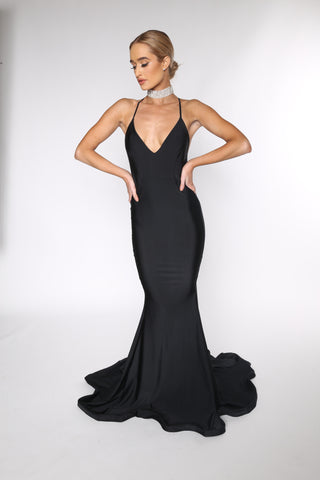 Asyah - Mermaids Are Real gown (Black) - Kourvosieur