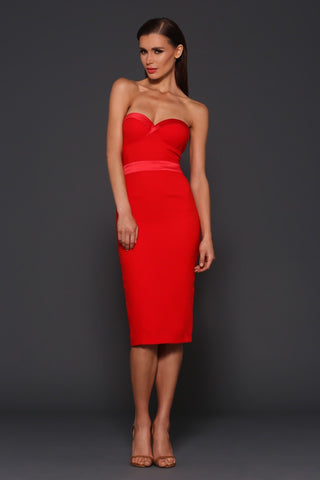 Elle Zeitoune Lorna dress (red) - Kourvosieur