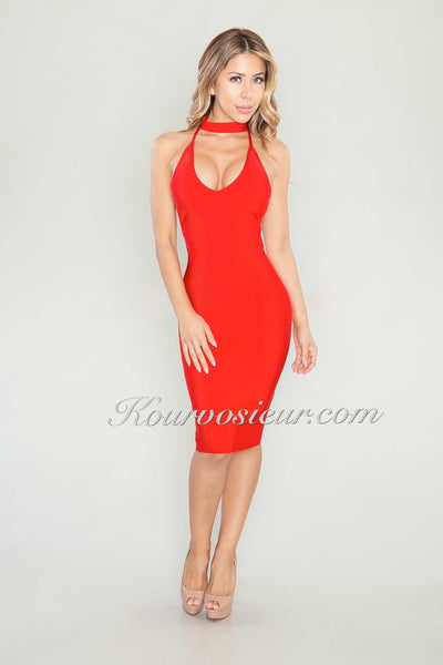 Cielo bandage dress (Red) - Kourvosieur