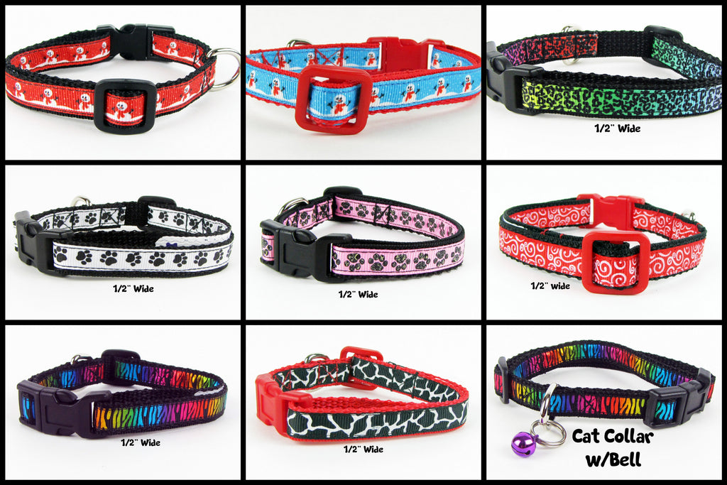 "1/2"" wide cat collars"