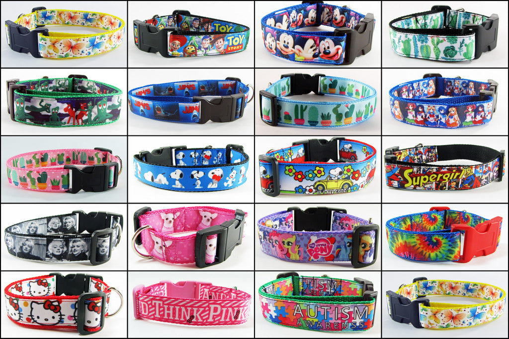 "All 1"" wide Dog collars"