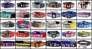 "1"" wide Dog & Cat collars, adjustable, durable, fun styles for your pet."