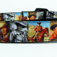 "John Wayne dog collar, adjustable, buckle collar, 1"" wide or leash - Furrypetbeds"