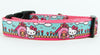 "Hello Kitty Dog collar Handmade adjustable buckle collar 1"" wide or leash - Furrypetbeds"