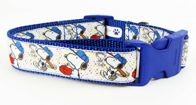 Snoopy dog collar handmade adjustable buckle collar 1