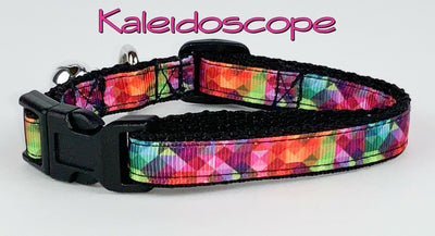 Kaleidoscope cat or small dog collar 1/2
