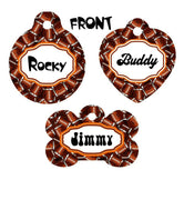 Pet ID Tag Football NFL Personalized Custom Double Sided Pet Tag w/name & number - Furrypetbeds