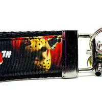"Friday The 13th Key Fob Wristlet Keychain 1 1/4""wide Zipper pull Camera strap - Furrypetbeds"