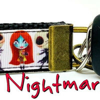"Nightmare Before Christmas Key Fob Wristlet Keychain 1""wide Zipper pull - Furrypetbeds"