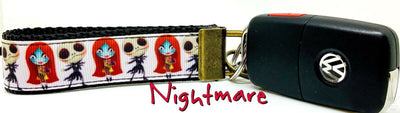 Nightmare Before Christmas Key Fob Wristlet Keychain 1