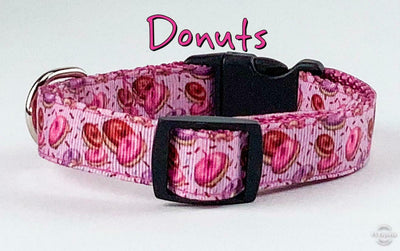 Donuts Dog collar handmade adjustable buckle 5/8