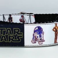 "Star Wars dog collar handmade adjustable buckle collar 1"" wide or leash fabric - Furrypetbeds"