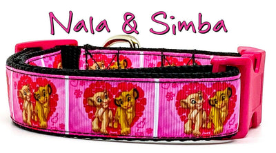 Nala & Simba dog collar handmade adjustable buckle 1