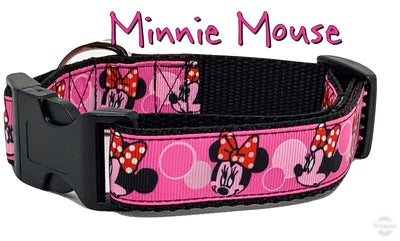 Minnie Mouse Dog collar handmade adjustable buckle 1