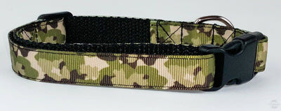 Camo dog collar handmade adjustable buckle collar 5/8