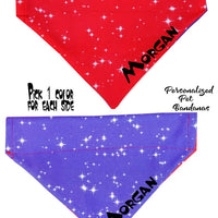 Personalized Dog Bandanas over the collar pet bandana Stars 11 colors to pick - Furrypetbeds