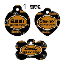 Pet ID Tag Steelers Personalized Custom Double Sided Pet Tag w/name & number NFL - Furrypetbeds