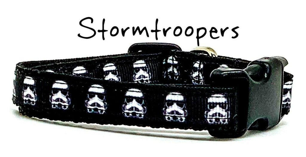 "Stormtroopers cat or small dog collar 1/2""wide adjustable or leash Star Wars"