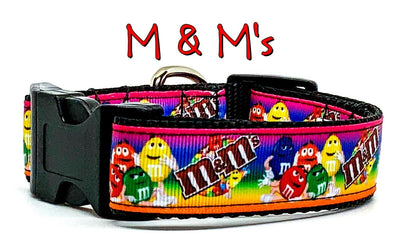 M & M's candy dog collar handmade adjustable buckle  1