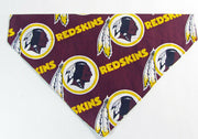 Redskins football Dog Bandana Over the Collar dog bandana Dog collar bandana - Furrypetbeds