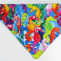 Mermaids Dog Bandana, Over the Collar dog bandana, Dog collar bandana, puppy - Furrypetbeds